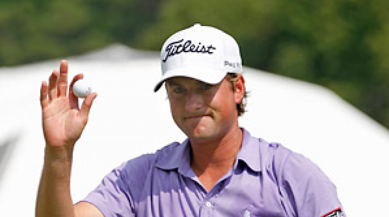 Webb Simspon calmly went bogey-free in the final round to capture his first PGA Tour victory.