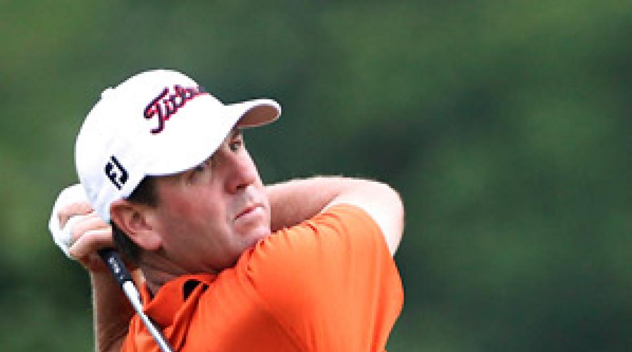 Harrison Frazar shot a seven-under 64 on Thursday to take the lead.