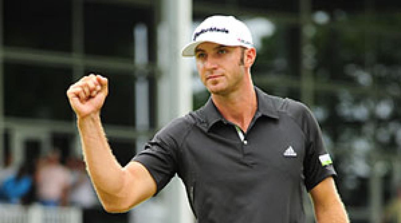 Dustin Johnson made five birdies, an eagle and a bogey to win by two.