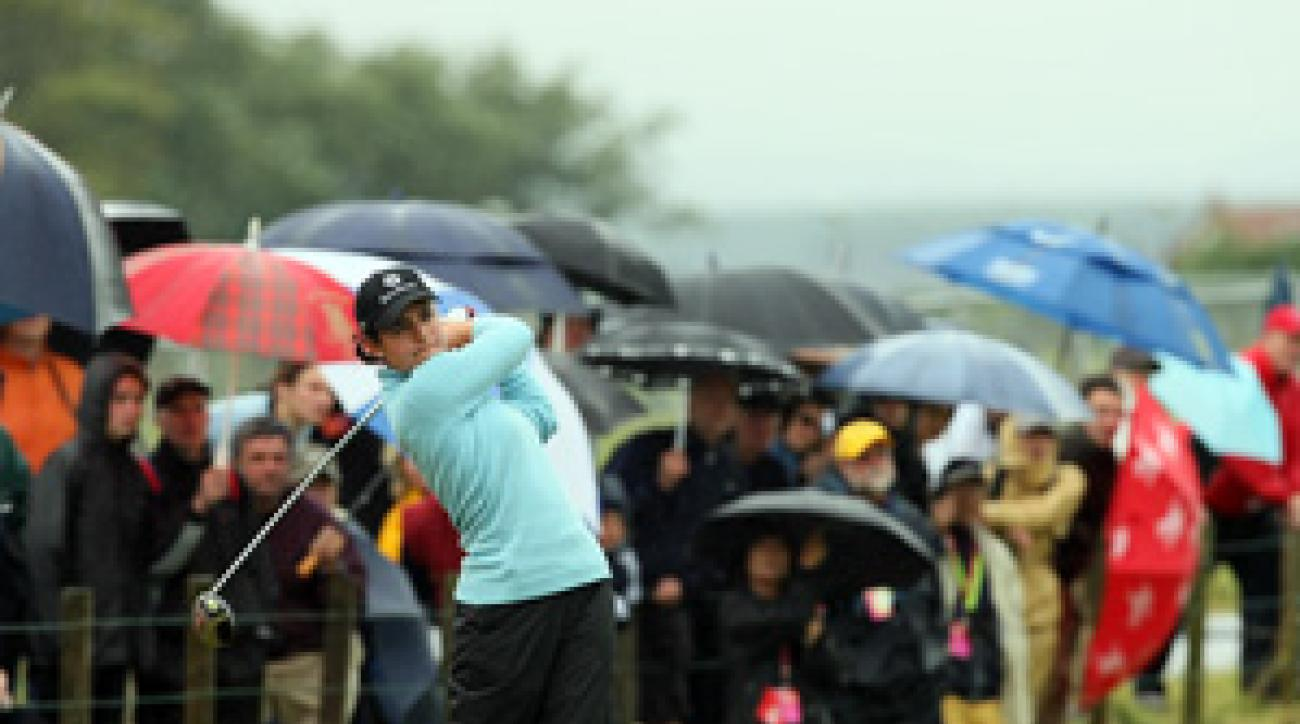 <strong>Dream Realized:</strong> Everything from the weather to her strategy for attacking the Old Course went according to plan for Ochoa.