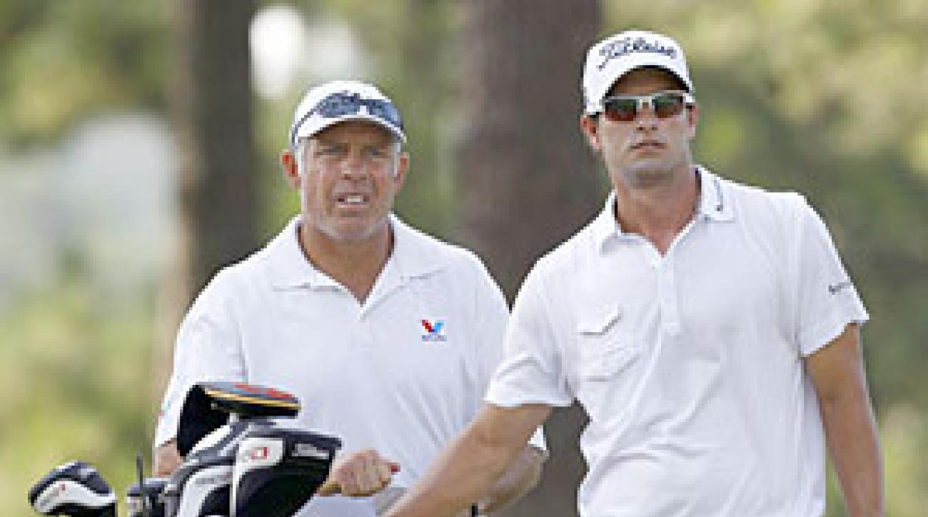 Adam Scott said he hopes to let his clubs, and not his caddie, Steve Williams, do the talking this week.