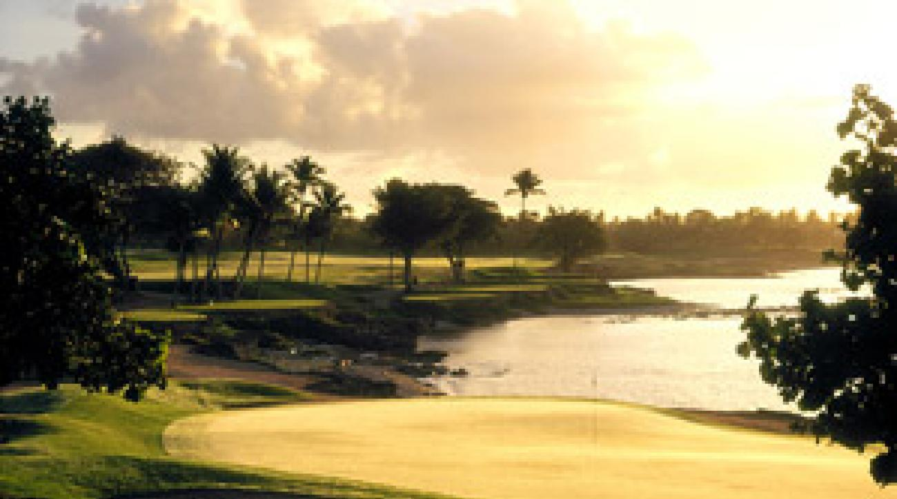 The 7th hole at Pete Dye's Caribbean masterpiece.