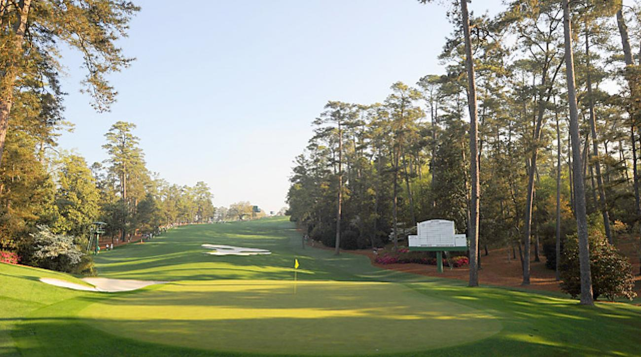 The 10th hole Monday at Augusta National.