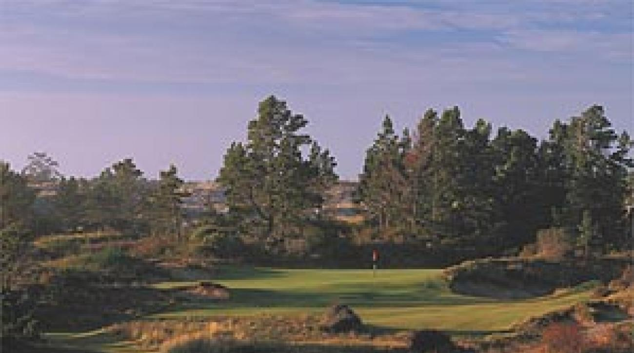 "The 17th hole at the soon-to-be opened Bandon Trails. <SPAN CLASS=""picturesource"">John Henebry</SPAN>"