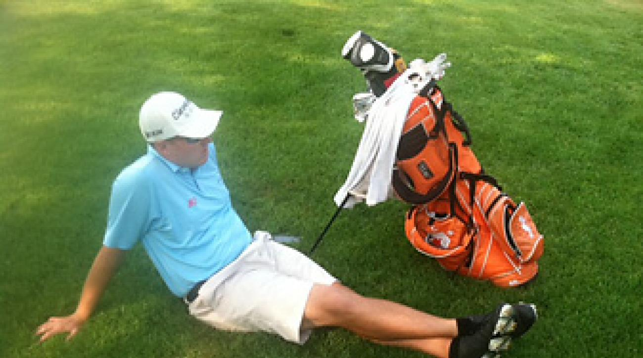 Mike Van Sickle before a practice round at the Greater Bangor Open. He shot 60 at the event and lost in a playoff to David Chung.