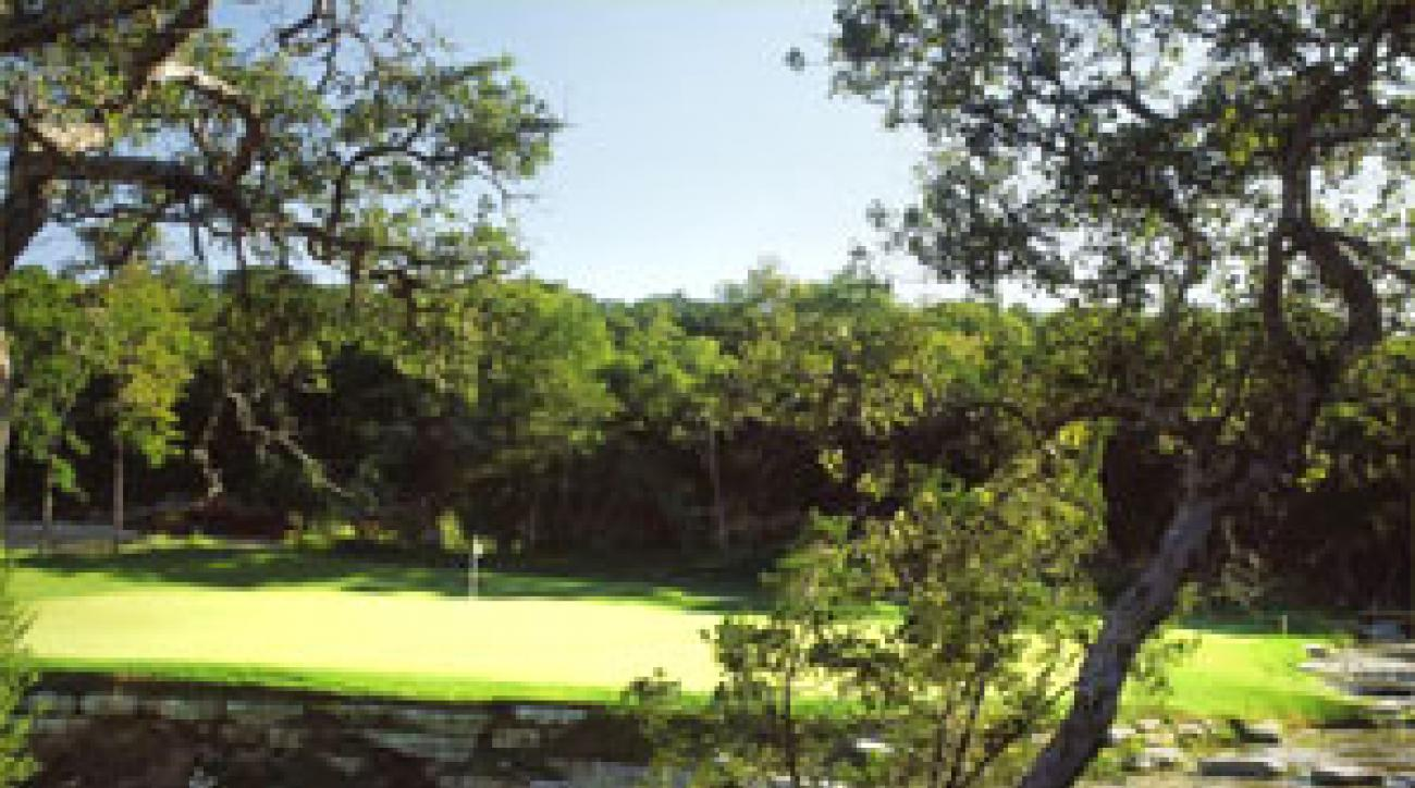 "The 450-yard 10th at Barton Creek's Canyon Course <span class=""picturesource"">Aidan Bradley</span>"