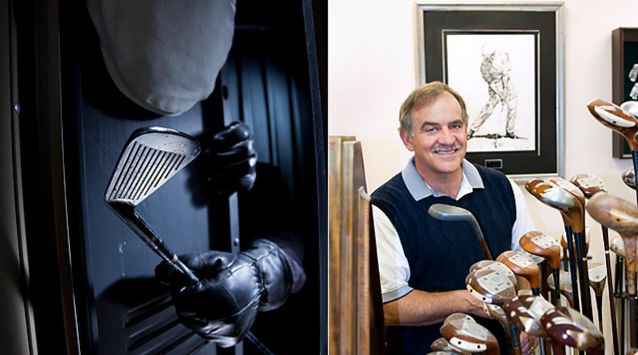 Thanks to Bobby Farino (left), Ben Hogan's famed 1-iron (left) is now on display at the USGA Museum.
