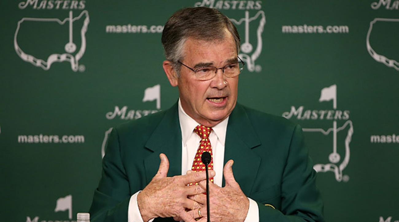 Augusta National chairman Billy Payne on Wednesday at the Masters.