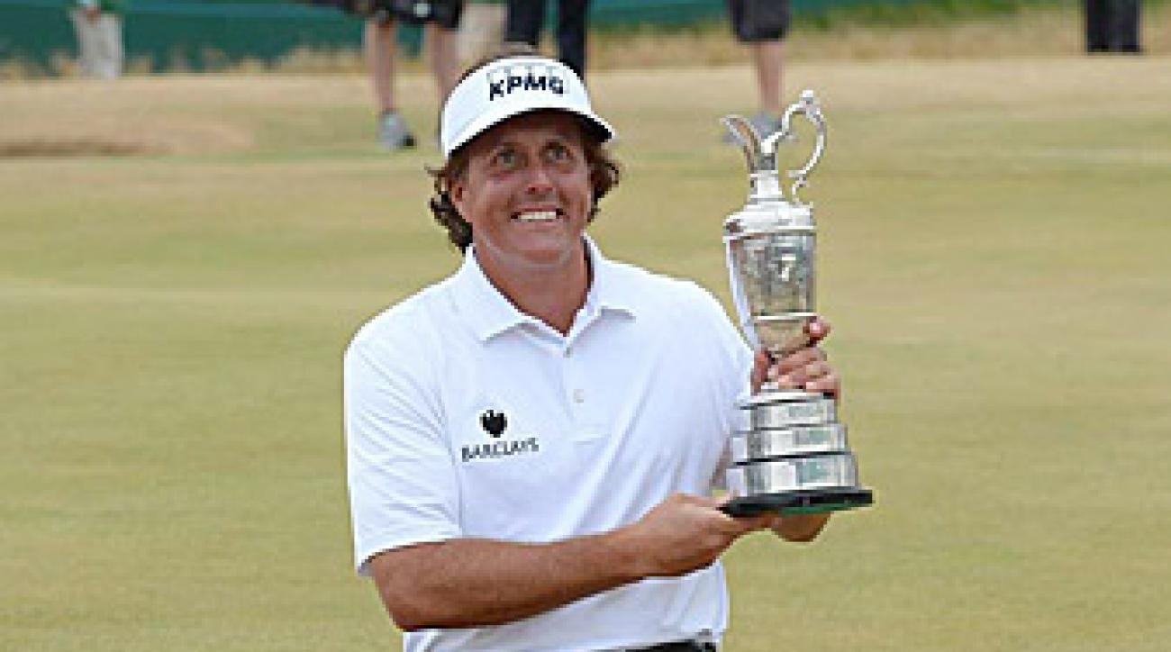 With his victory at Muirfield, Mickelson is just a U.S. Open victory away from a career grand slam.