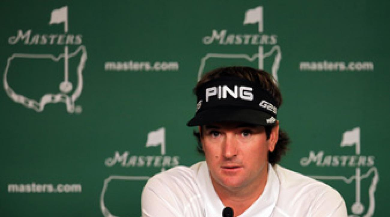 Bubba Watson got emotional during his Tuesday press conference at the Masters.