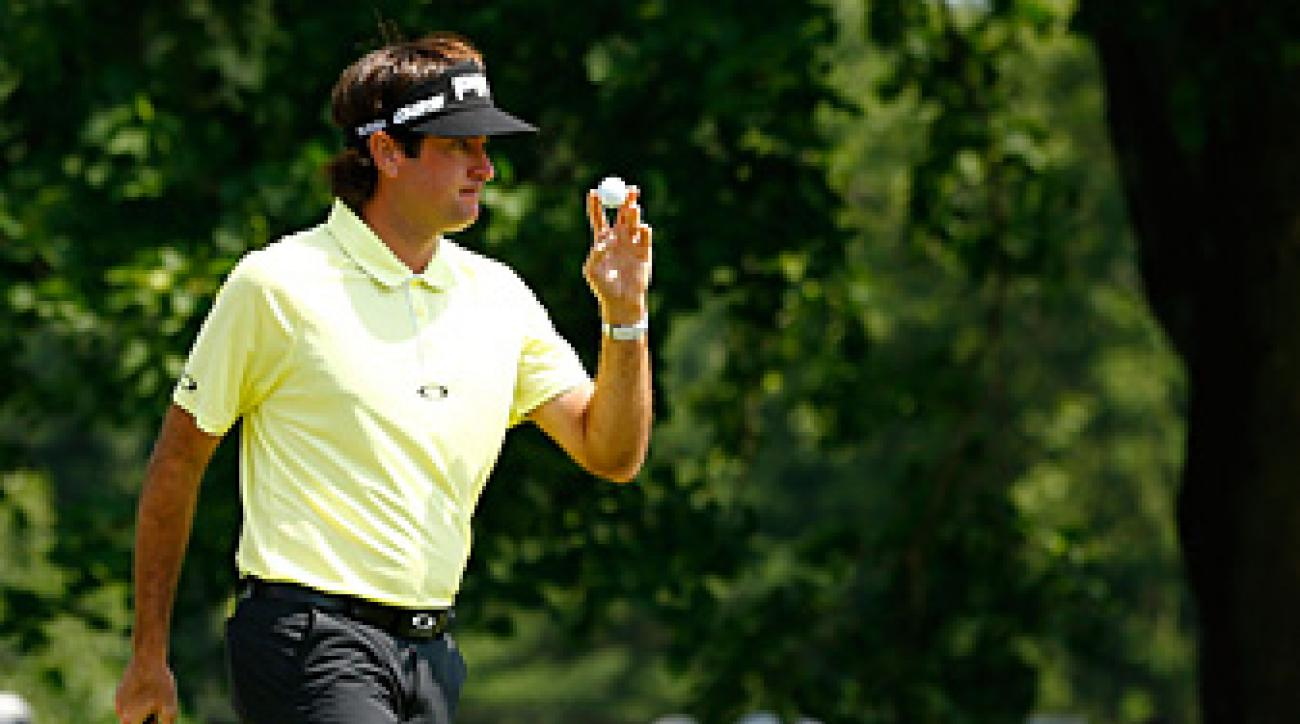 Bubba Watson made three birdies and three bogeys on Saturday.