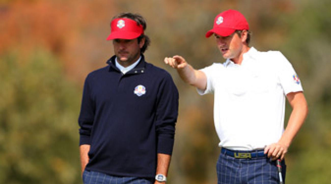 Bubba Watson, left, and Webb Simpson won, 5 and 4.