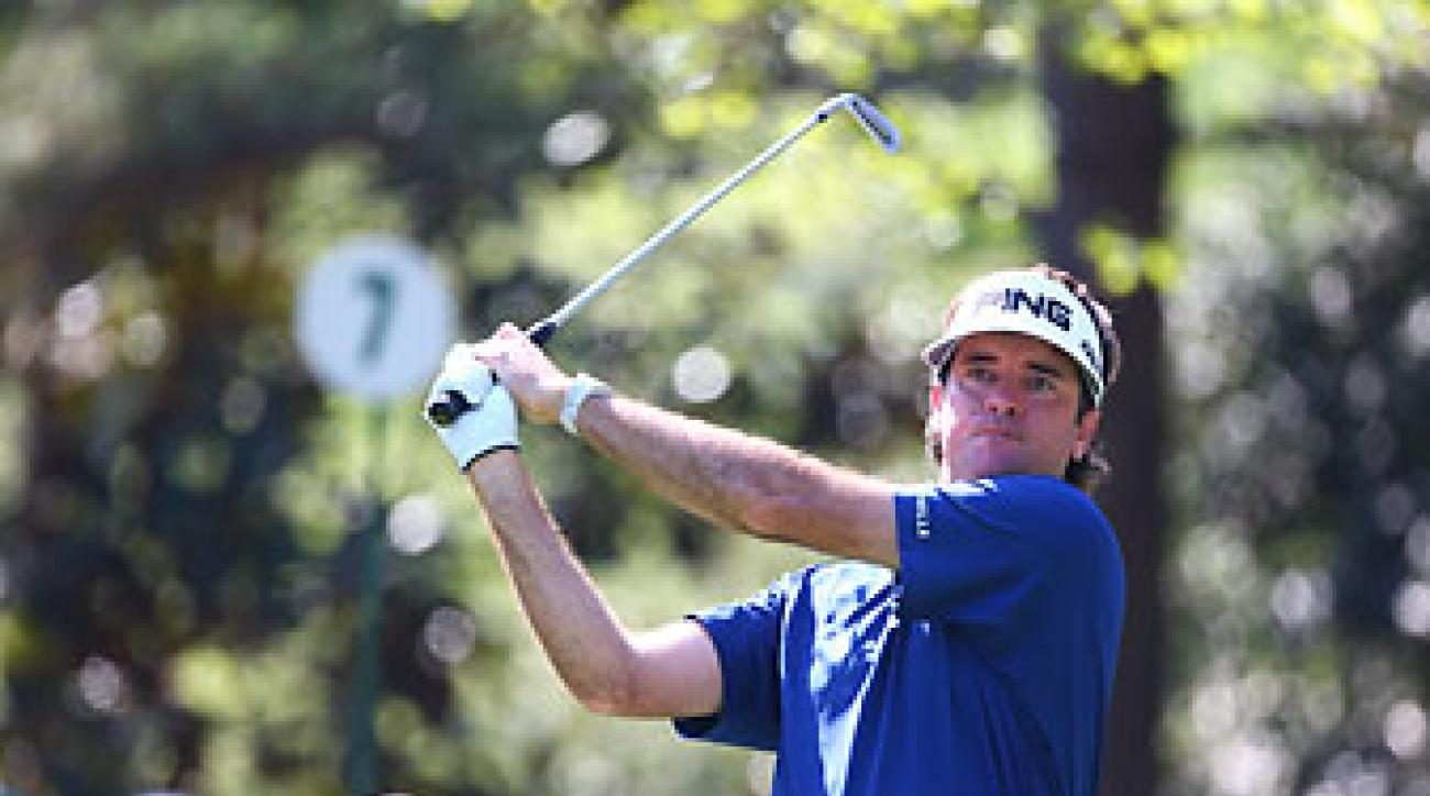 Bubba Watson on Augusta National's 7th hole Saturday at the Masters.