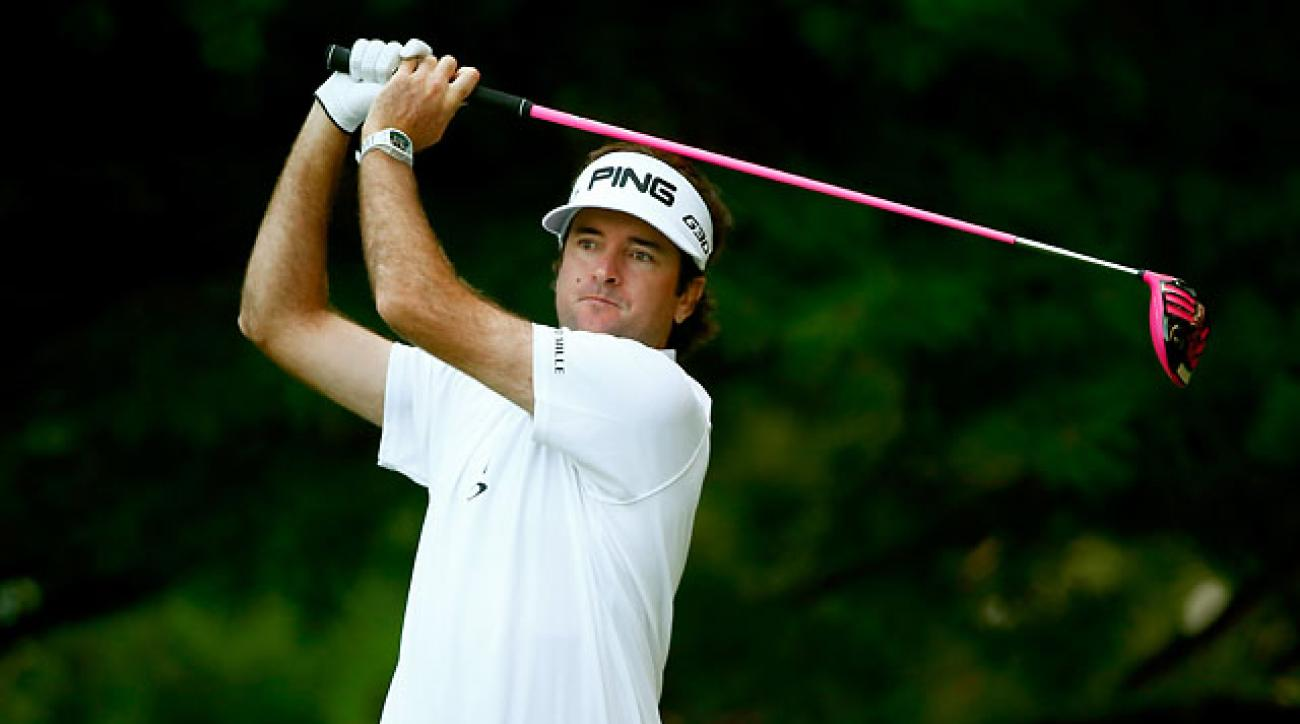 Bubba Watson leads the PGA Tour in driving distance at 313.6 yards.