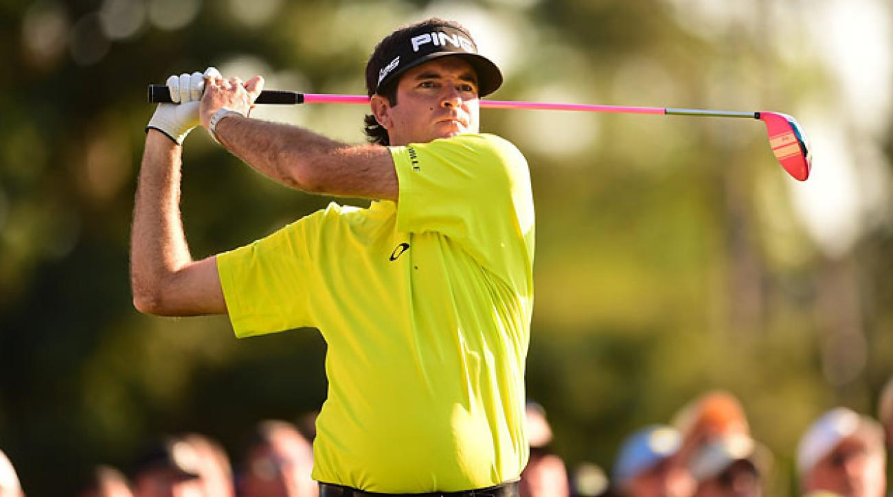 Bubba Watson shot a 3-under 69 on Thursday at Augusta National, just one behind Bill Haas.