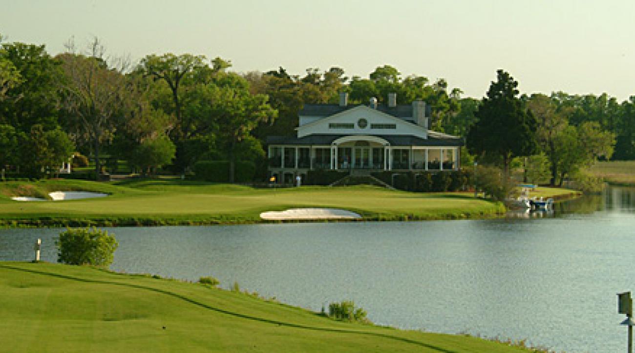 The 383-yard, par-4 18th at Caledonia Golf & Fish Club.