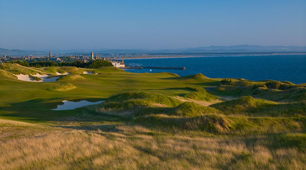 The 6th hole at the Castle Course at St. Andrews.
