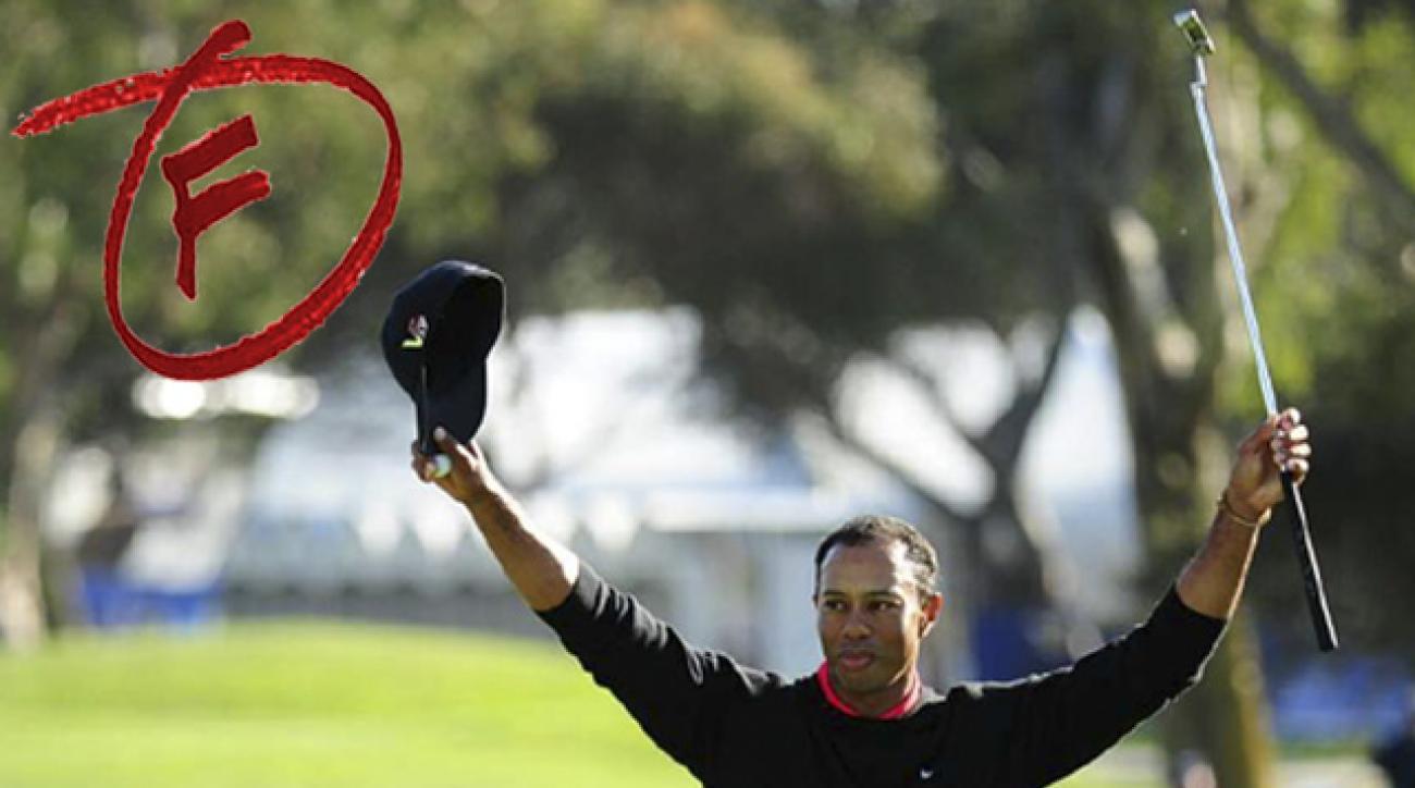 Jason Dufner got an 'A++' from Brandel Chamblee, but despite five wins Tiger Woods flunked.