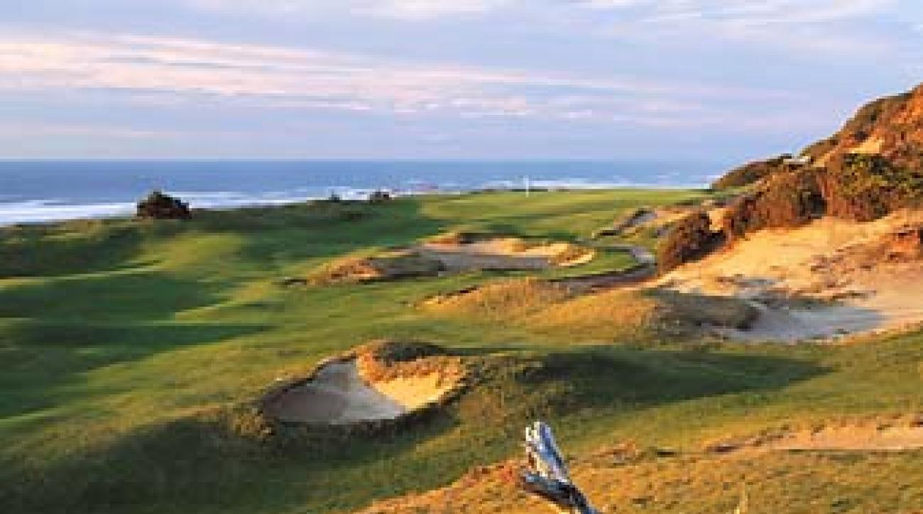 The 13th hole at Tom Doak's Pacific Dunes course in Bandon, Ore. Doak didn't initiate the retro-style design movement, but he is one of its finest practitioners.