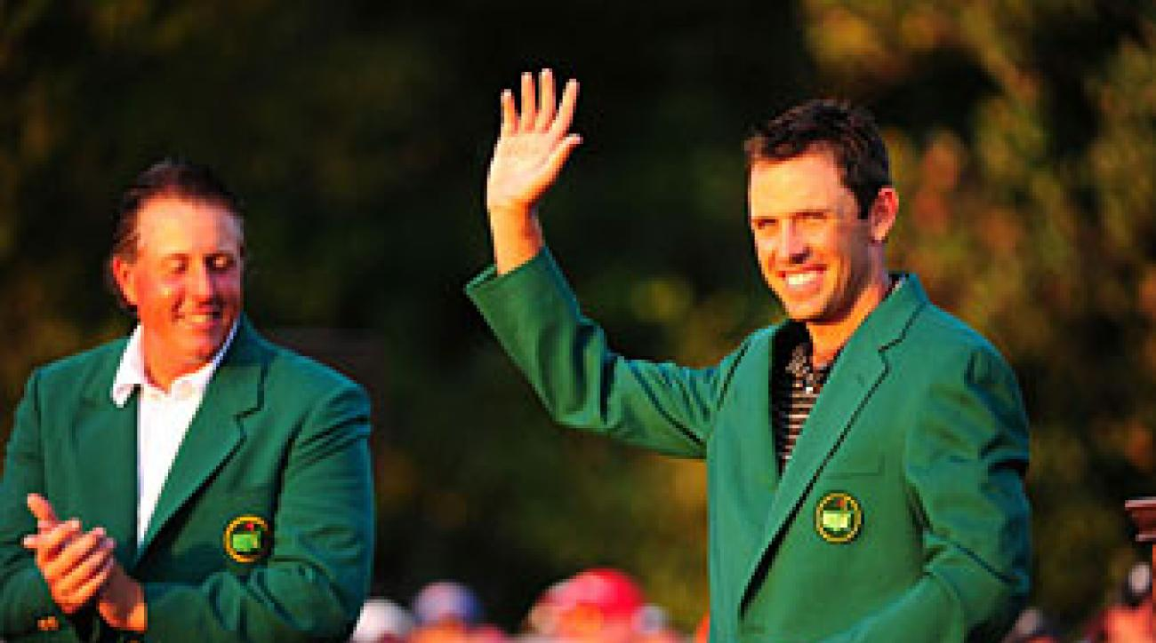 Charl Schwartzel birdied the last four holes to win the Masters.