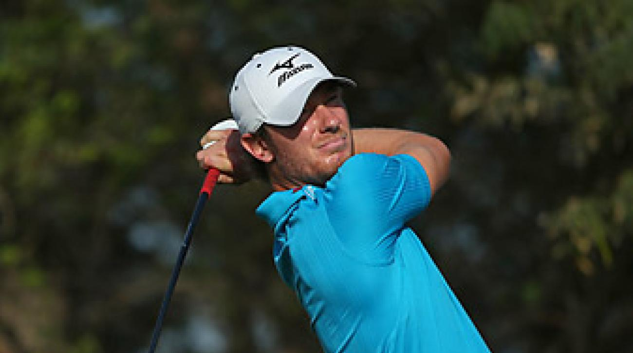 Chris Wood shot an eight-under 64 in the second round.