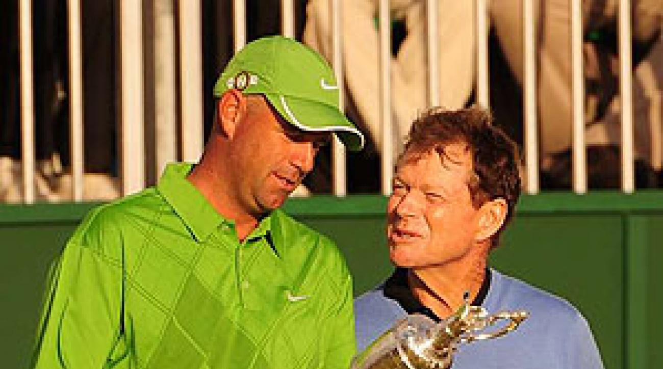 Stewart Cink beat Tom Watson in a heartbreaking playoff at the British Open.