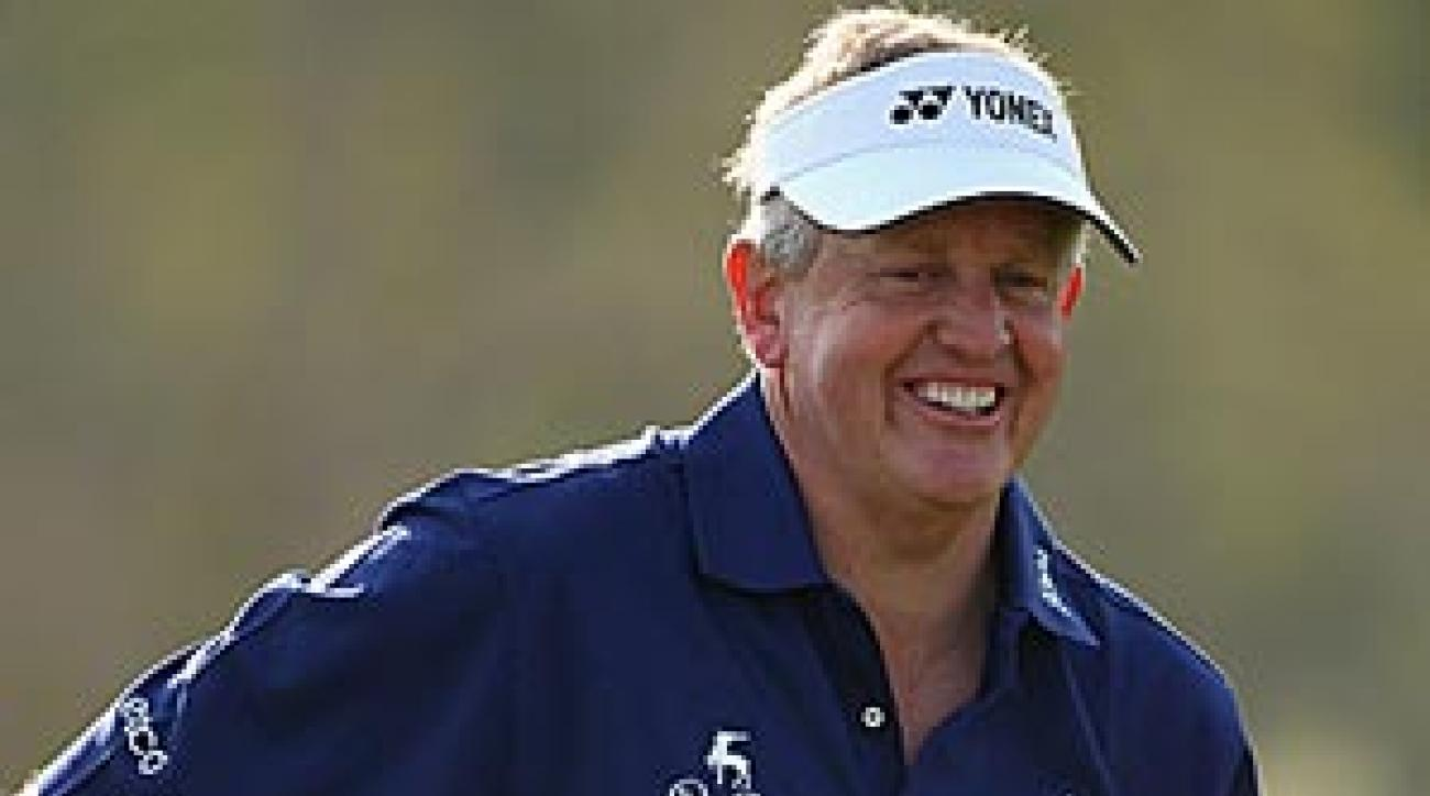 Colin Montgomerie at the Qatar Masters earlier this month.