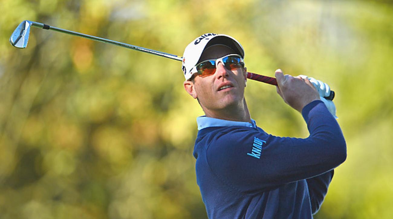 Nicolas Colsaerts shot a 65 to share the lead.