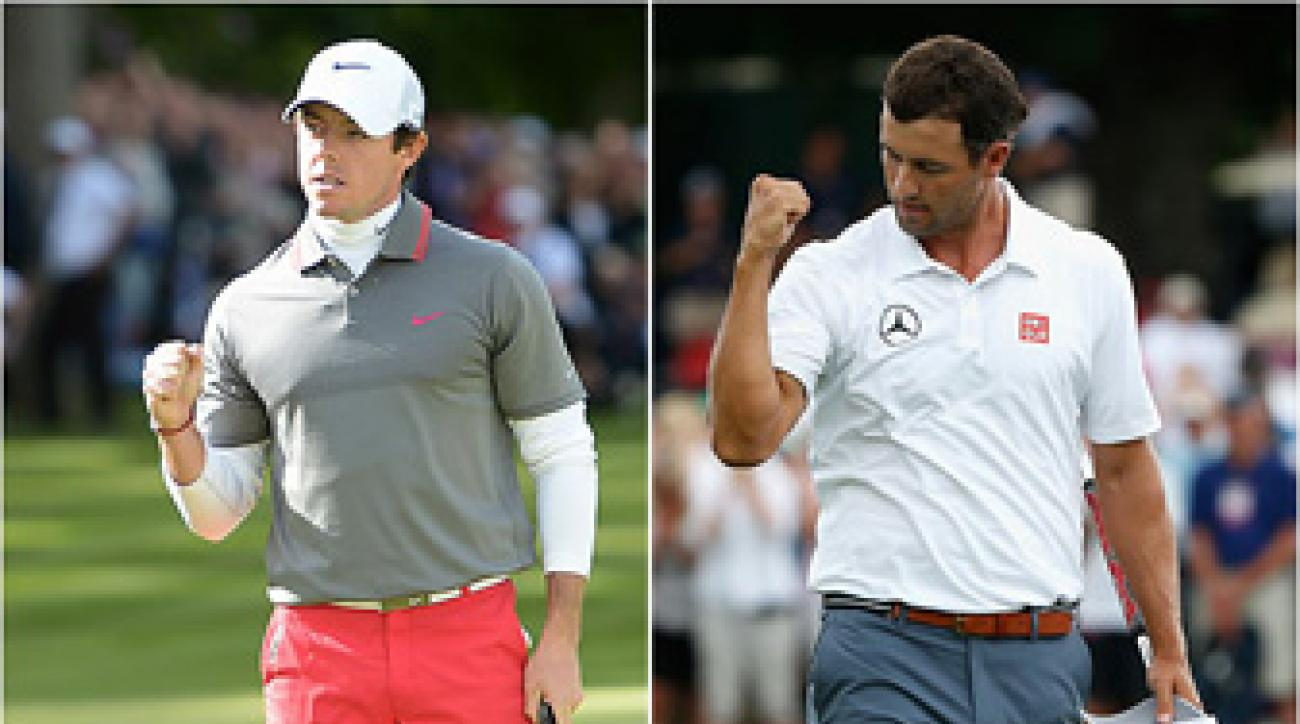 Rory McIlroy and Adam Scott each completed come-from-behind victories on Sunday.