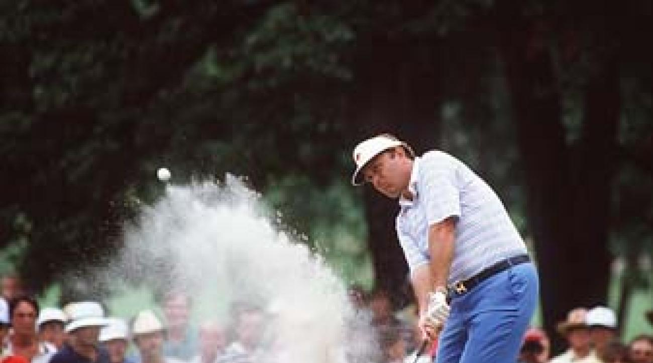 Raymond Floyd at the 1982 PGA Championship at Southern Hills in Tulsa, Okla. Temperatures exceeded 100 degrees during the first two rounds.