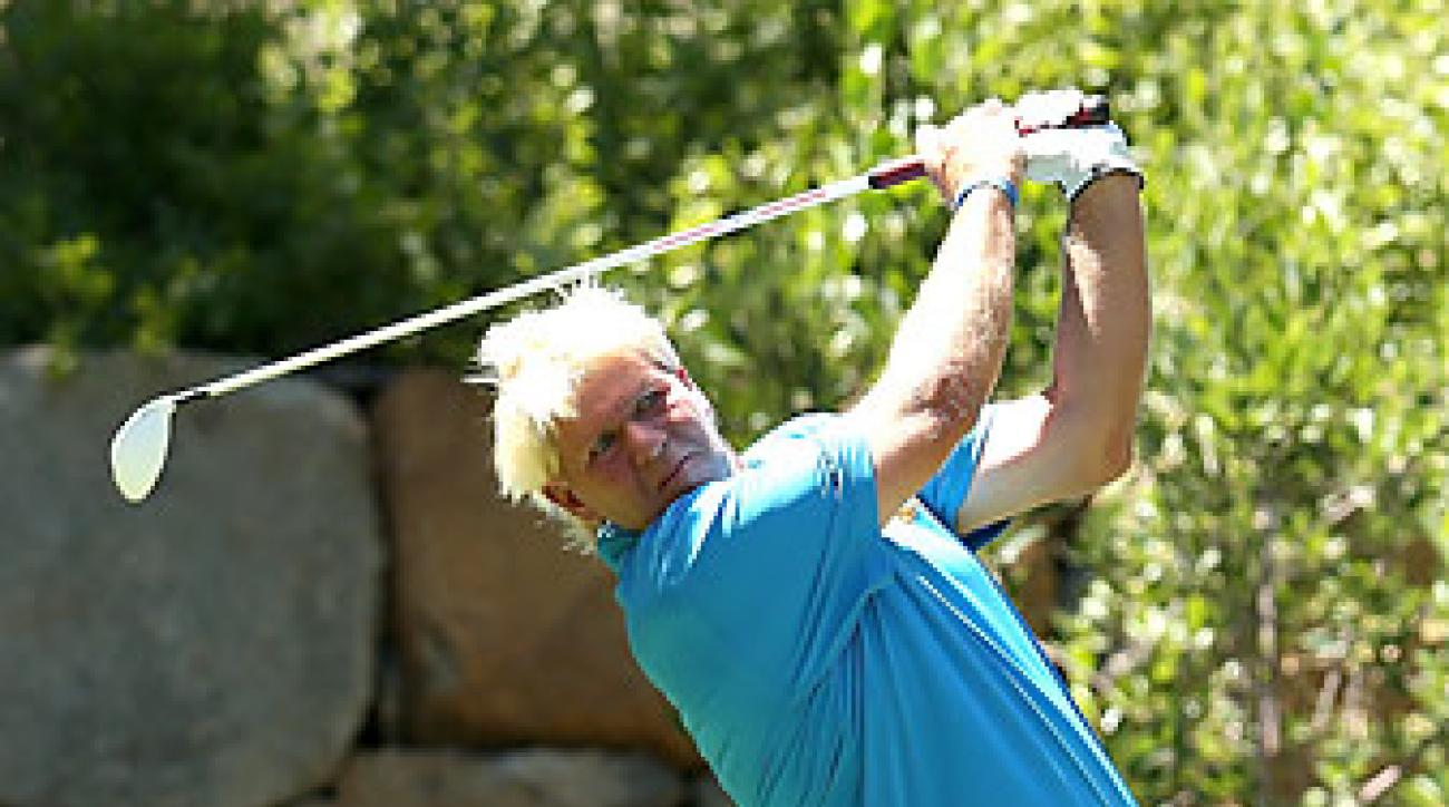 John Daly had six birdies and two bogeys for a total of 10 points on Thursday.