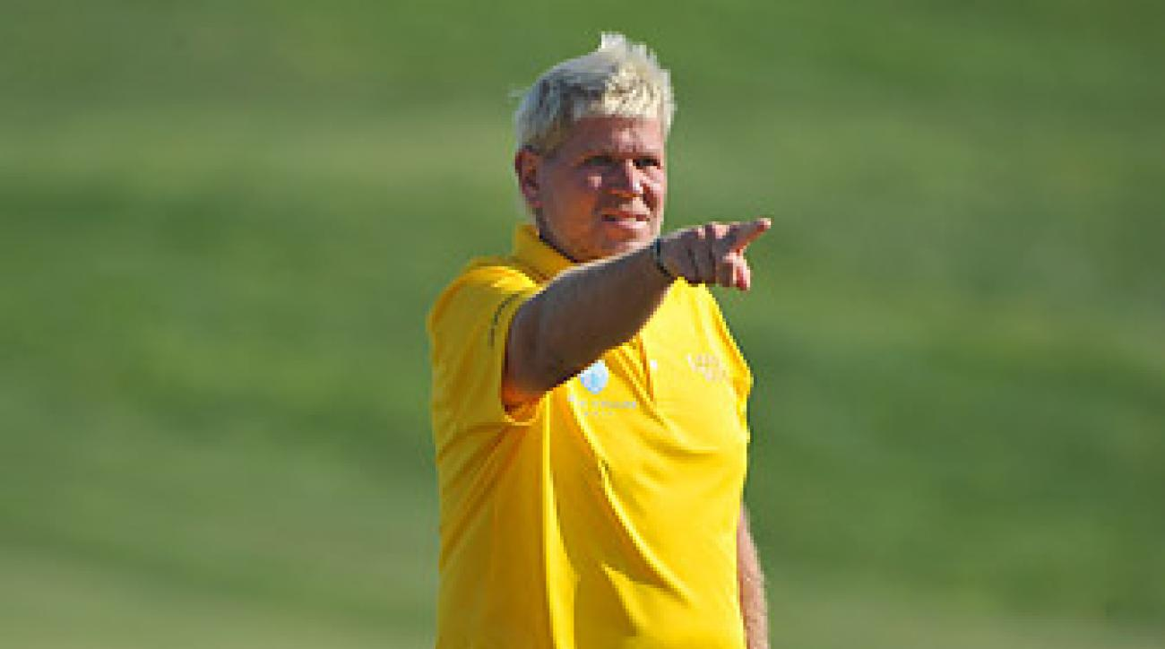 John Daly shot a 67 at the Sicilian Open to move within two shots of the lead.