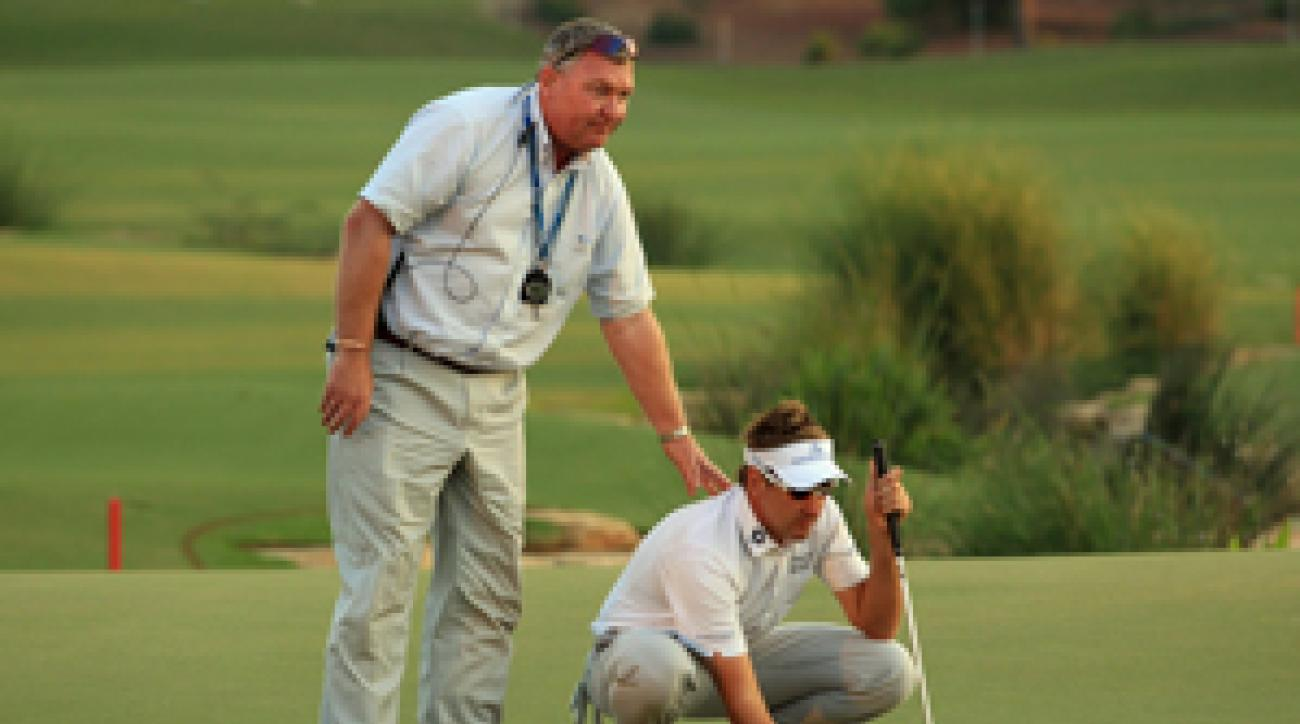 Ian Poulter was the victim of another bizarre rules infraction Sunday at the Dubai World Championship.