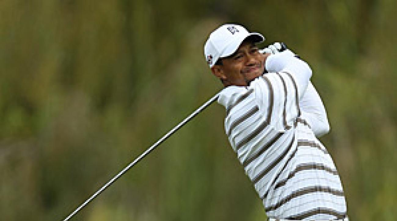 Woods shot a 68 on Saturday for his fourth sub-70 round in a row.
