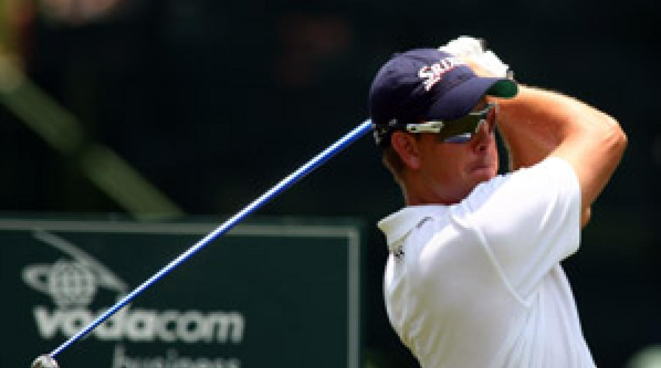 Henrik Stenson tied the course record with a 63 on Thursday.