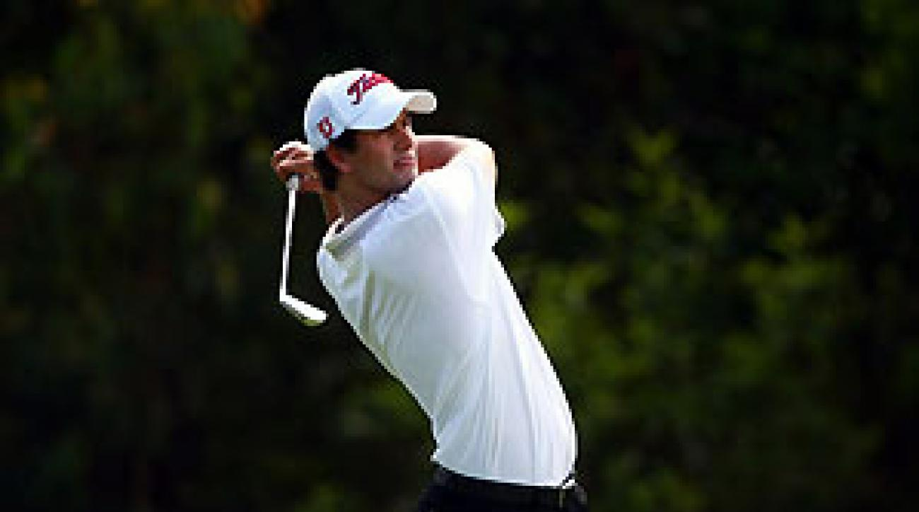 Adam Scott birdied two of the last four holes for a 5-under 67.