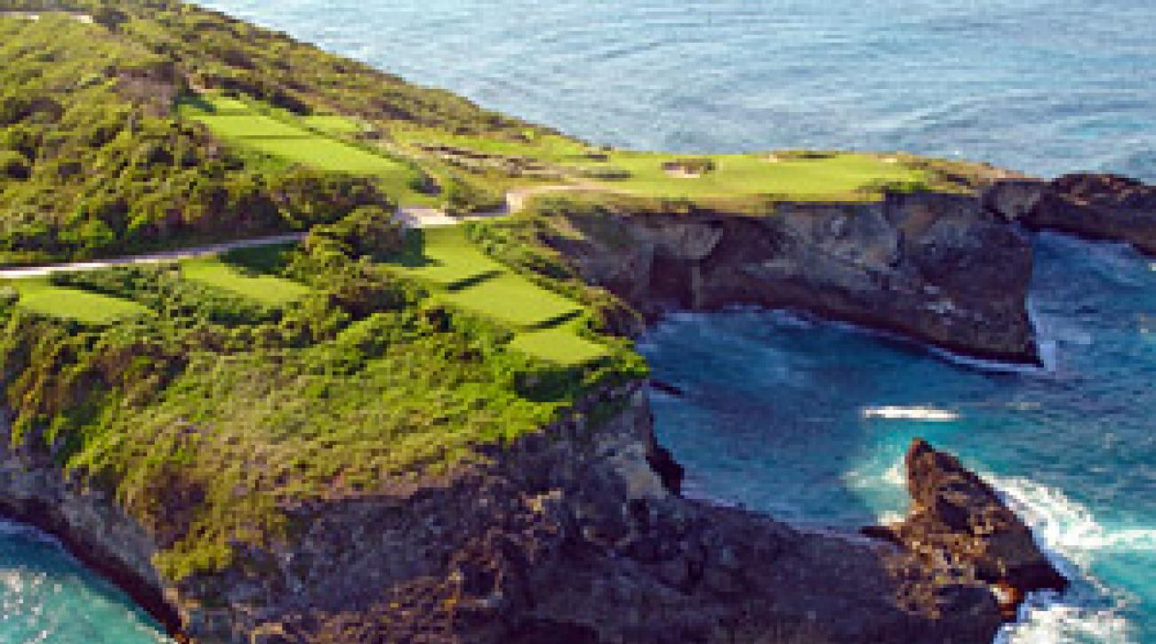 Shades of Cypress Point: The closing stretch at Faldo's Roco Ki course.