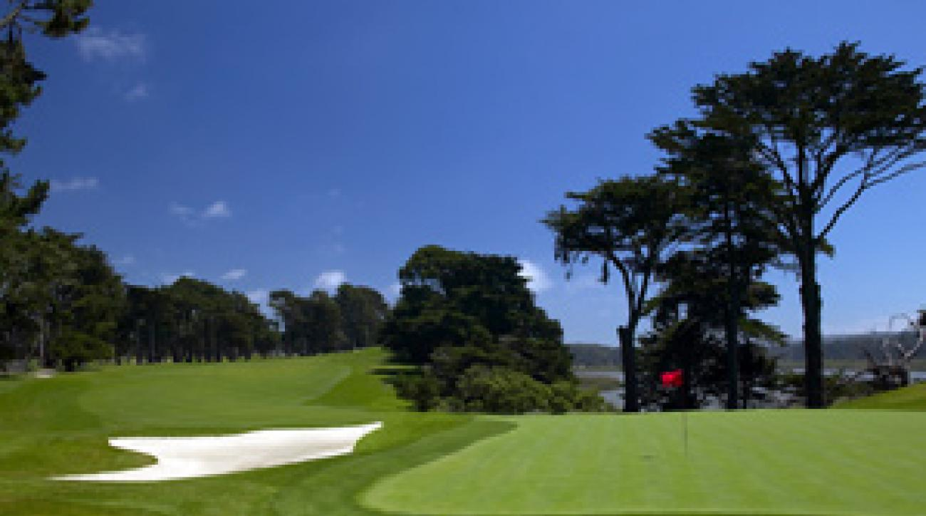 The tough 15th hole at Harding Park.