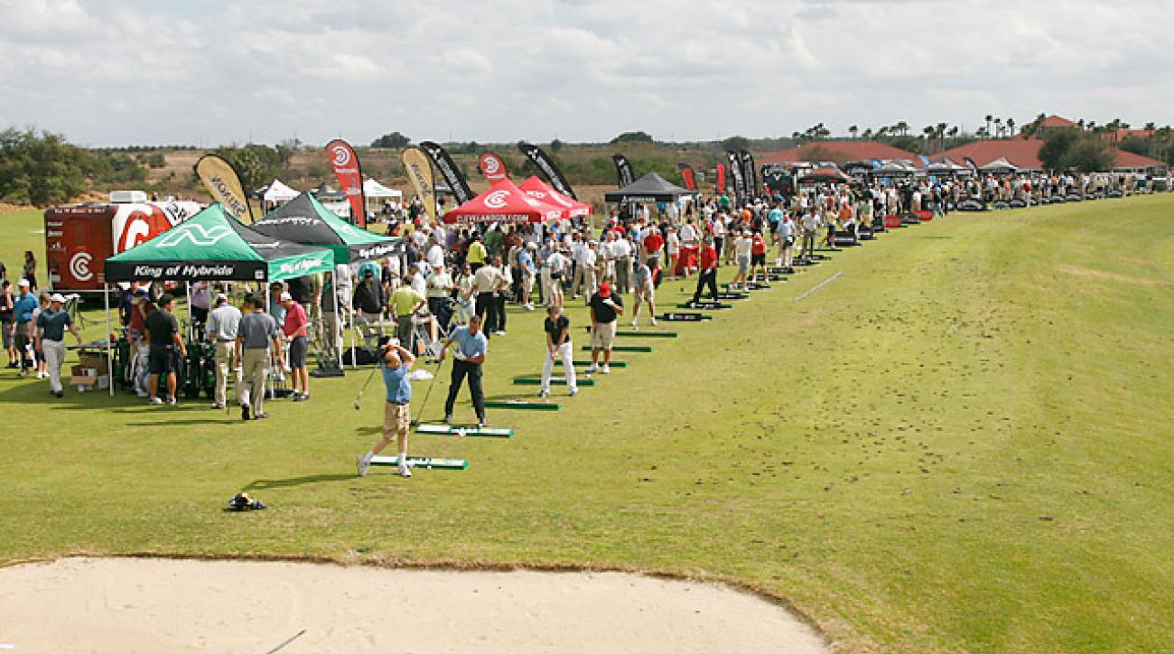 The scene at the 2014 PGA Show Demo Day.