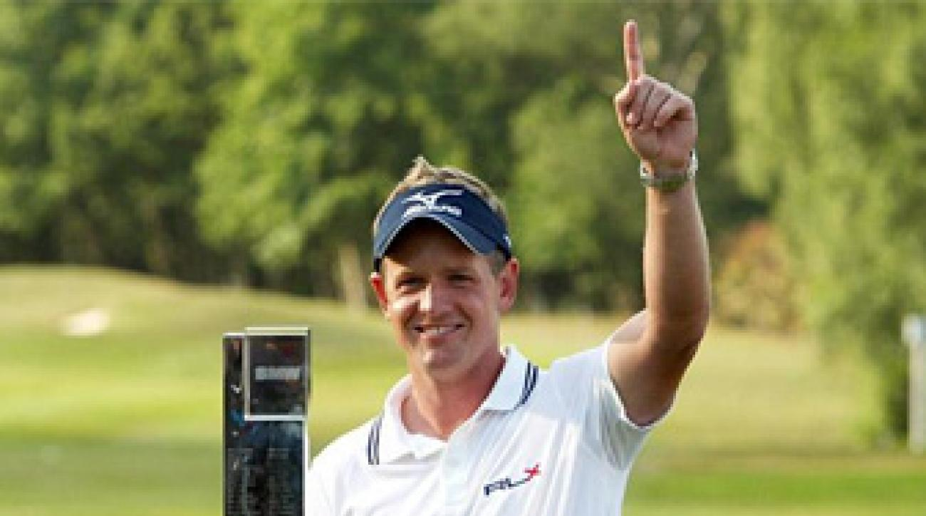 Luke Donald was honored by the golf GWAA after a season in which he won the money titles on both the PGA and European tours.