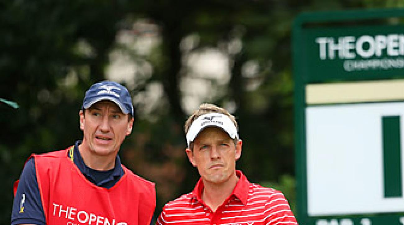 Donald will be without caddie John McLaren on Friday.