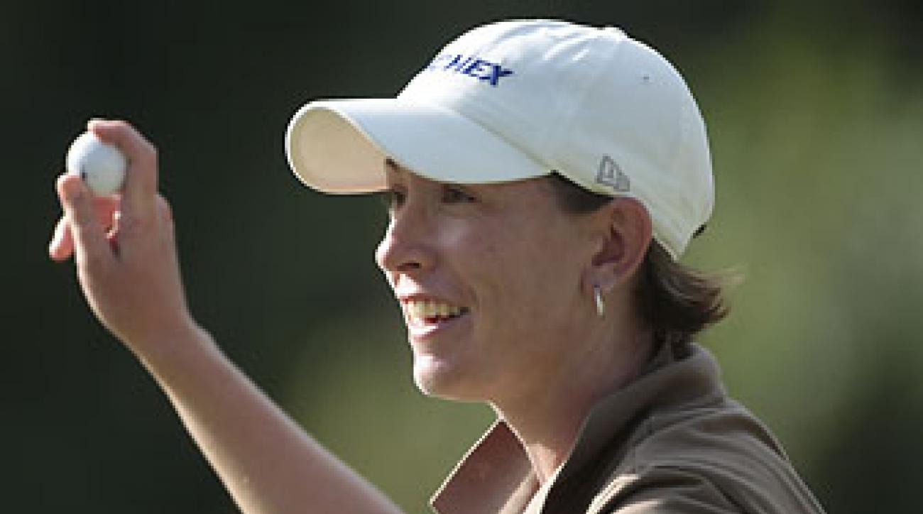 Danielle Downey at the Bell Micro LPGA Classic at Magnolia Grove Golf Course in Mobile, Ala., on Sept. 14, 2008