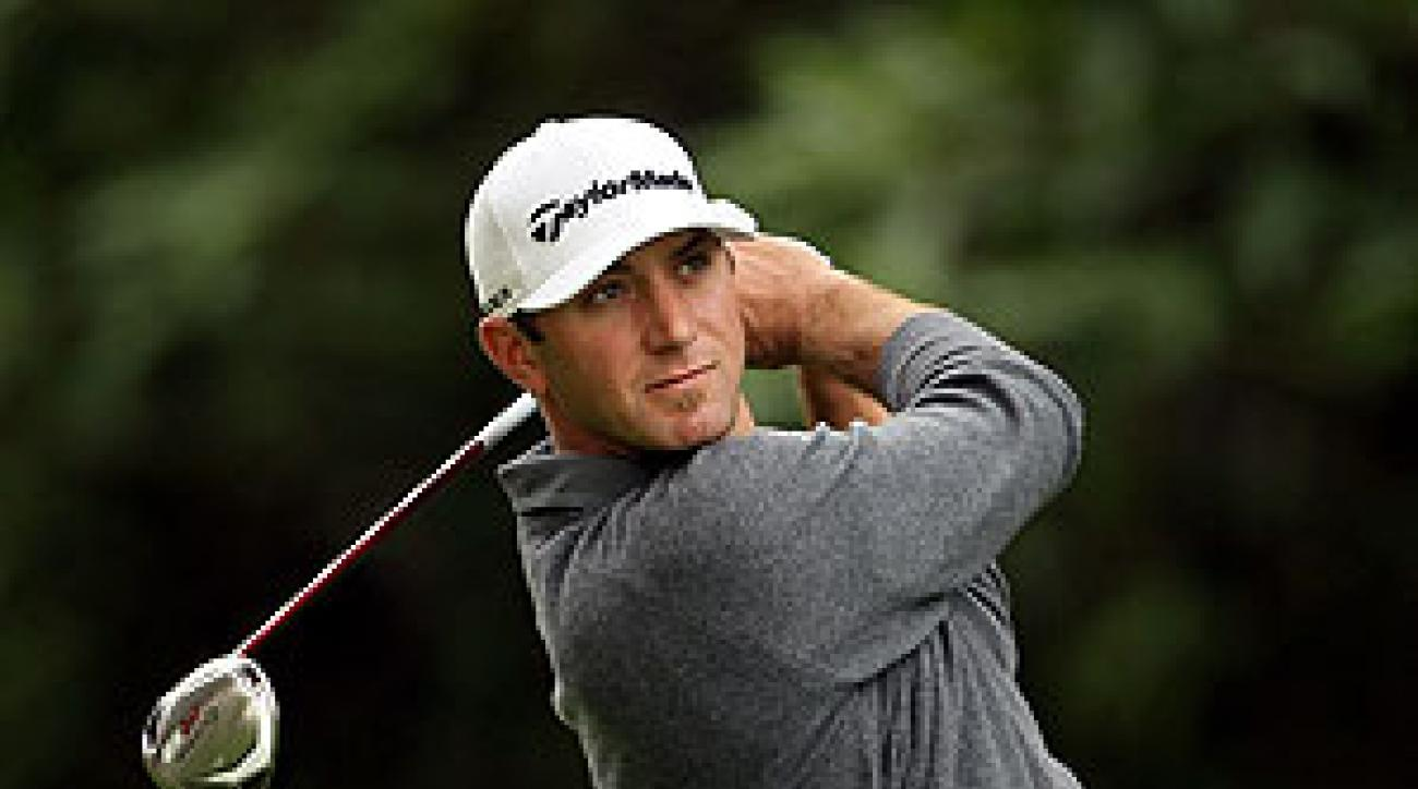 Dustin Johnson shot 64 in the first round.