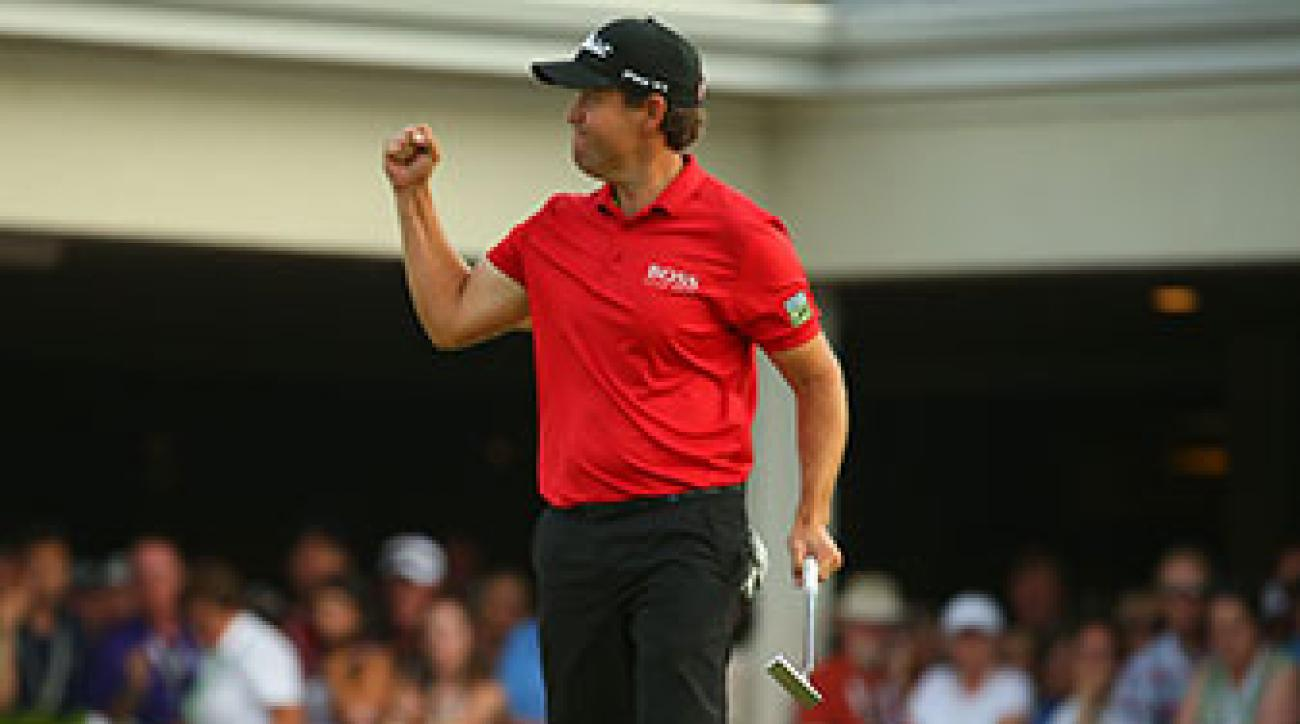 Erik Compton shot a 2-over 72 on Sunday.