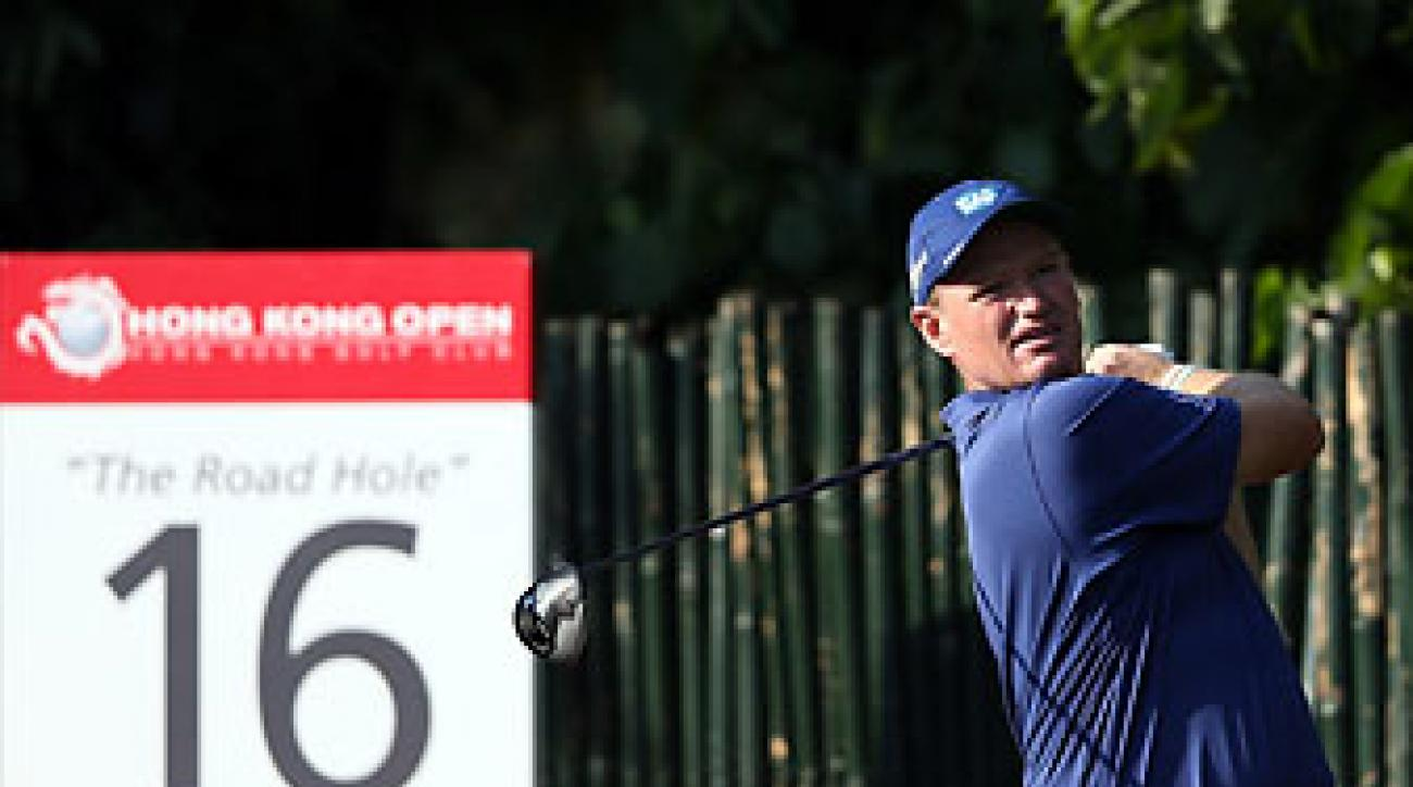 Ernie Els, who celebrated his 45th birthday on Friday, shot 71 on Saturday at the Hong Kong Open.