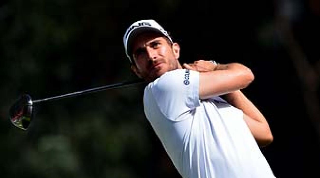 Alejandro Canizares plays a shot during the final round of the Trophee Hassan II Golf at Golf du Palais Royal on Sunday in Agadir, Morocco.