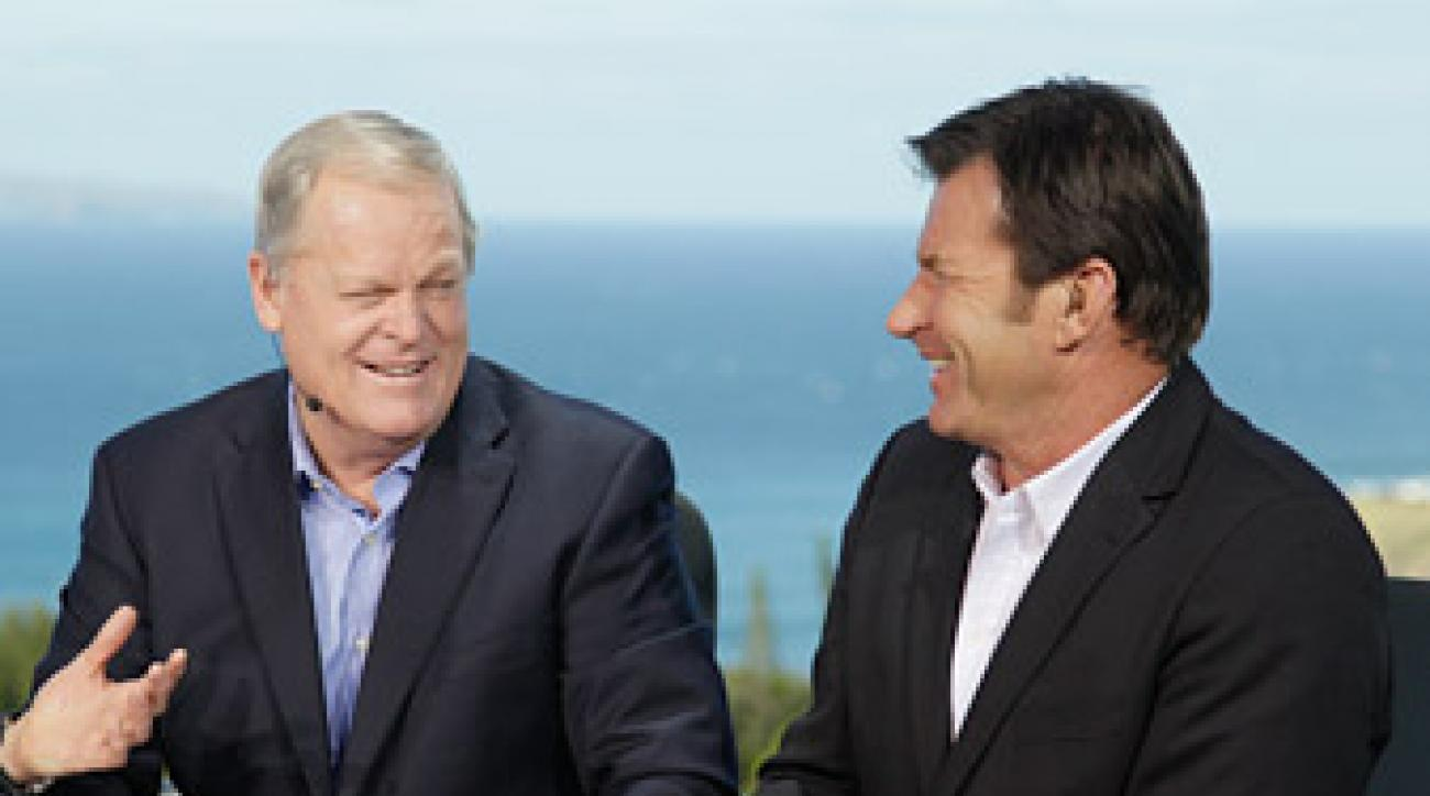 Johnny Miller and Nick Faldo teamed up in the broadcast booth for the 2012 Tournament of Champions.
