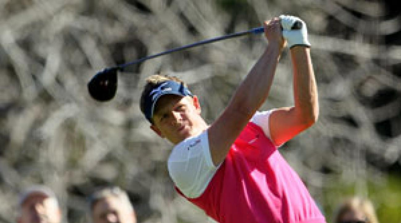 Luke Donald finished second last week at the Northern Trust Open, and he is making his first start at Pebble Beach since 2007.