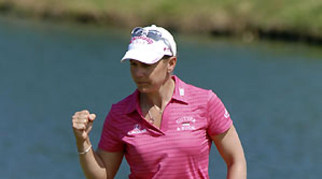 Annika Sorenstam shot a 31 on the back nine.