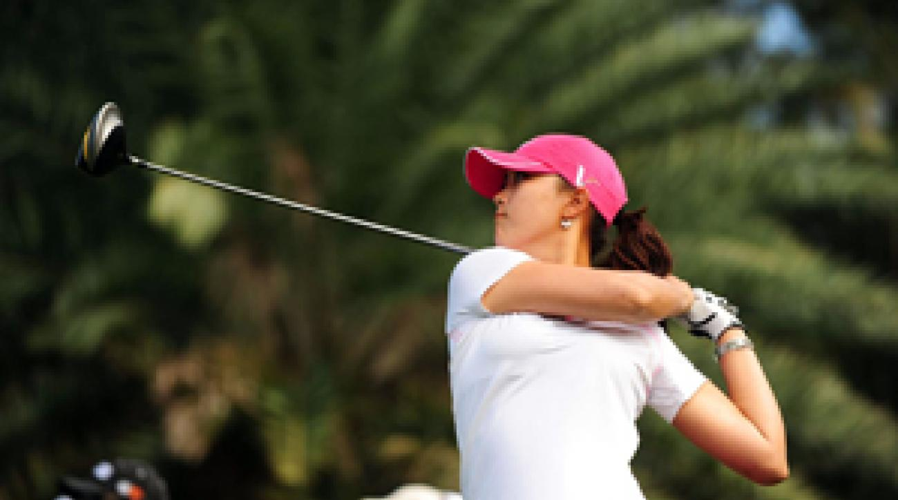 Michelle Wie lost a three-shot lead on the back nine Saturday to lose the SBS Open to Angela Stanford.